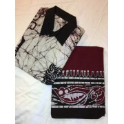 Batik Sarong and Shirt-full kit (Maroon/Black)